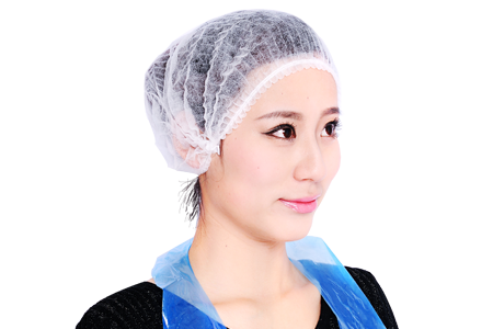 Disposable Polypropylene Pleated Bouffant Cap