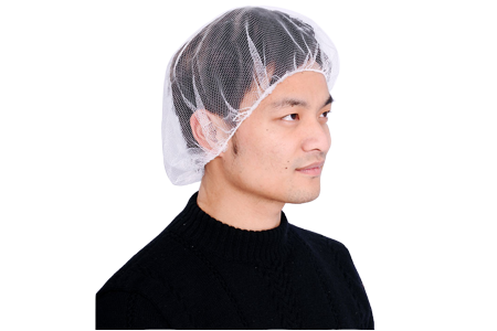 Disposable White Nylon Mesh Hair Net