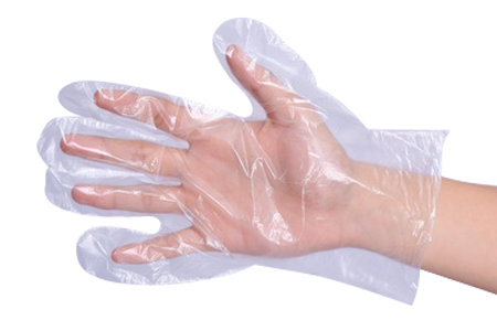 Clear Polyethylene Disposable Gloves
